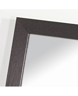 Miroir encadré Lyon Carré Noir 51 X 51