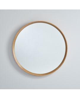 Miroir encadré Solid Circle Ronde Chêne natur 0 X 0