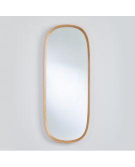 Miroir encadré Solid Hall Ovaal Chêne natur 121 X 51