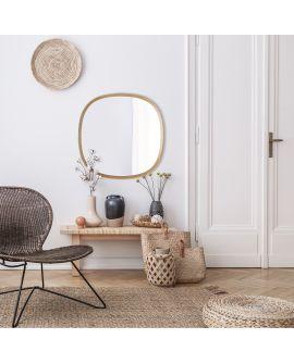 Miroir encadré Solid Square Carré Chêne natur 71 X 71