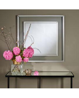 Miroir encadré Mira Carré Miroir + Transparant 0 X 0