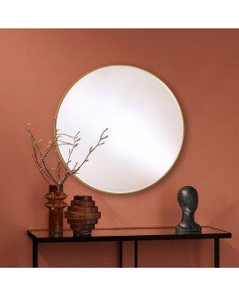 Miroir encadré Hoop Bronze M Ronde Noir 0 X 0