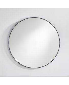 Miroir encadré Hoop Black M Ronde Noir 0 X 0