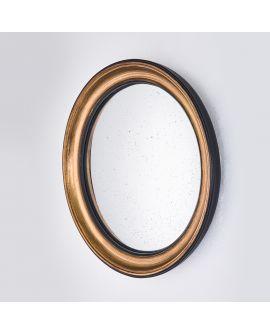 Miroir CONVEX GOLD M Modern Rond Or 44x44 cm