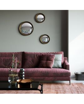 Miroir encadré Convex Gold M Ronde Couleur or 73 X 50,4
