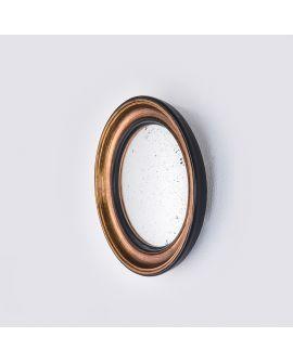 Miroir CONVEX GOLD S Modern Rond Or 33x33 cm