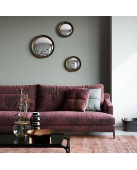 Miroir encadré Convex Gold S Ronde Couleur or 73 X 39
