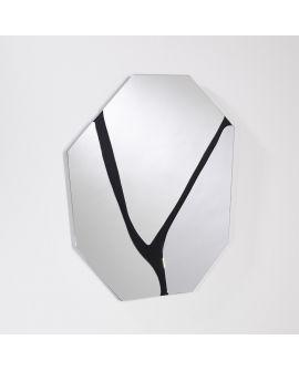 Miroir encadré Paco Modèle irrégulier Noir 0 X 0