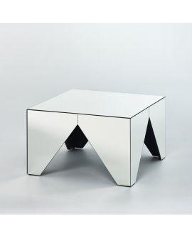 Miroir Tables gigogne Tavolino L Klein meubel Miroir non biseauté 47 X 70