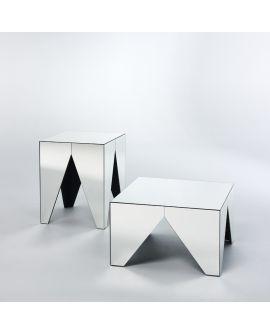 Miroir Tables gigogne Tavolino S Klein meubel Miroir non biseauté 56 X 66