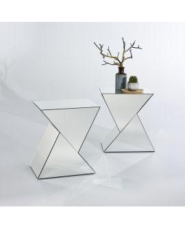 Miroir Tables gigogne Duet Klein meubel Miroir biseauté 48 X 60