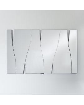 Miroir encadré Tacca Rectangle Miroir biseauté 77 X 123
