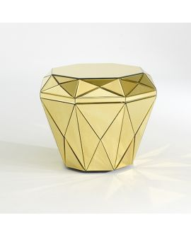 Miroir Tables gigogne Gem Gold Pouf Klein meubel Couleur or 65 X 65