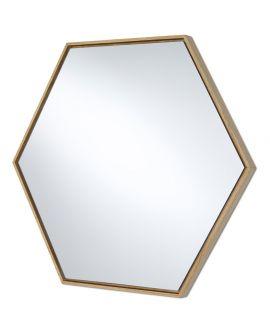 Miroir encadré Lina Oak Hex Modèle irrégulier Chêne natur 57 X 65