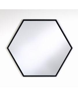 Miroir encadré Lina Black Hex Modèle irrégulier Noir 57 X 65