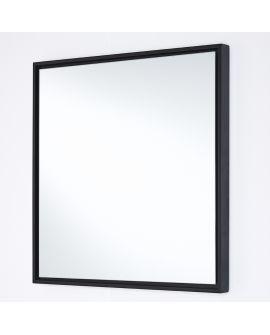Miroir encadré Lina Black Square Carré Noir 44 X 44