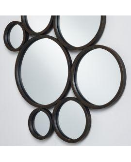 Miroir encadré Bubbles Modèle irrégulier Noir 58 X 140