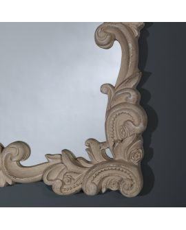 Miroir encadré Belle Beige Rectangle 58 X 68