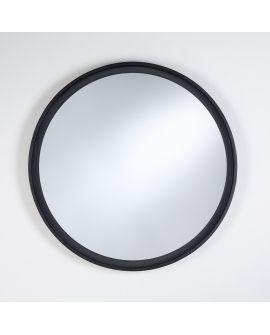 Miroir encadré Radius L Black Ronde Noir 84 X 82