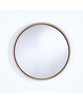 Miroir encadré Radius M Oak Ronde Chêne natur 65 X 65
