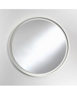 Miroir encadré Radius L White Ronde Blanc 84 X 82