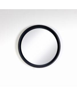 Miroir encadré Radius S Black Ronde Noir 45 X 45