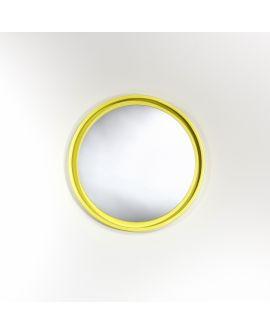 Miroir encadré Radius S Yellow Ronde Jaune 45 X 45