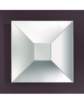 Miroir encadré Disco L Carré Miroir biseauté 97,5 X 97