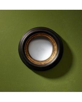 Miroir encadré Convex Mini Ronde Noir + or 28 X 28