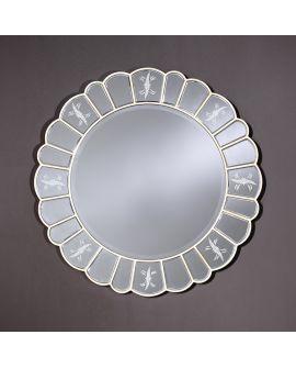 Miroir encadré Arena Ronde Couleur argent+miroir clair 110 X 110