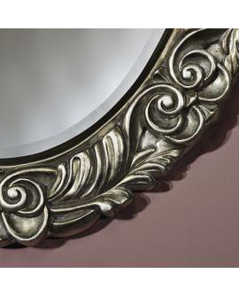 Miroir encadré Corona Silver Ovaal Couleur argent 70 X 90