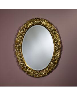 Miroir encadré Corona Gold Ovaal Couleur or + patina 69 X 90