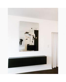 Miroir Salle de bain Connect I Rectangle Miroir + noir 110 X 161