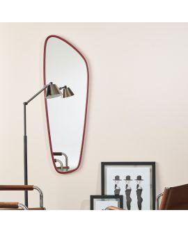 Miroir encadré Gustav Modèle irrégulier Rouge 0 X 0