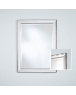 Miroir encadré Lorca Silver Rect. Rectangle Couleur argent 0 X 0