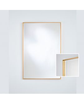 Miroir SOHO GOLD RECT Modern Rectangle Argent/Or 81x121 cm