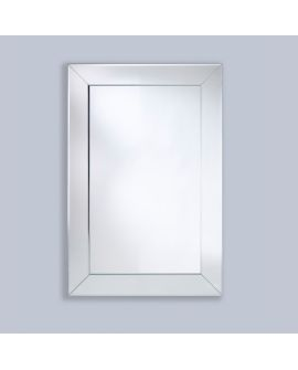 Miroir BASTA ALU RECT Modern Rectangle Argent 80x120 cm