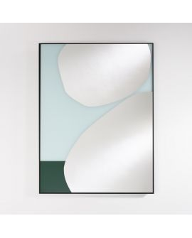 Miroir Salle de bain Mika Blue Rectangle Bleu 87 X 115