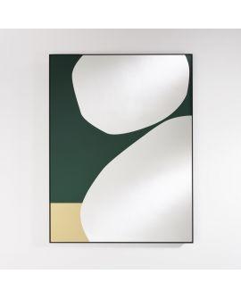 Miroir Salle de bain Mika Green Rectangle Vert 87 X 115