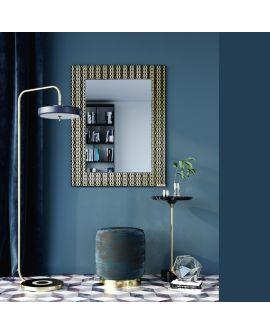 Miroir encadré Zafira Gold Rectangle Noir + or 109 X 139,5
