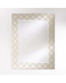 Miroir encadré Zahia Bronze Rectangle Couleur bronze 108 X 136