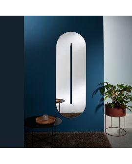 Miroir Salle de bain Pillo Ovaal Miroir + noir 63,5 X 172