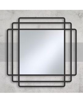 Miroir Salle de bain Contour Carré Miroir + noir 100 X 104