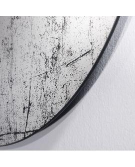 Miroir Salle de bain Grunge Ovaal Miroir + noir 86 X 122