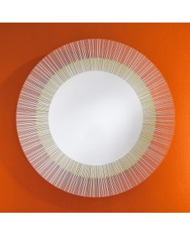 Miroir Salle de bain Yoko Bronze Ronde Miroir+verre clair 115 X 116
