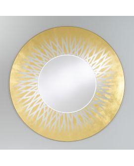 Miroir encadré Zora Gold Ronde 116 X 118