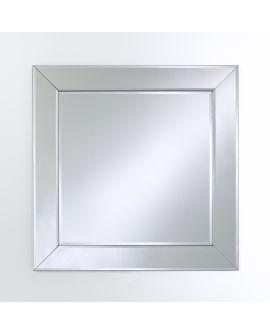 Miroir encadré Basta Square Carré Miroir biseauté 87 X 88
