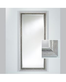 Miroir encadré Bilbao Silver XL Rectangle Argent usé mat 95 X 197