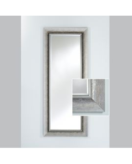 Miroir encadré Bilbao Silver Hall Rectangle Argent usé mat 75 X 177