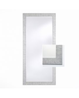 Miroir encadré Toledo Silver XL Rectangle Couleur argent 88 X 190